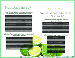 Alkaline Nutrition Therapy